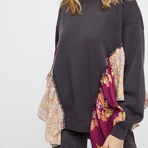 FREE PEOPLE~SHE'S JUST CUTE PULLOVER SWEATSHIRT XL